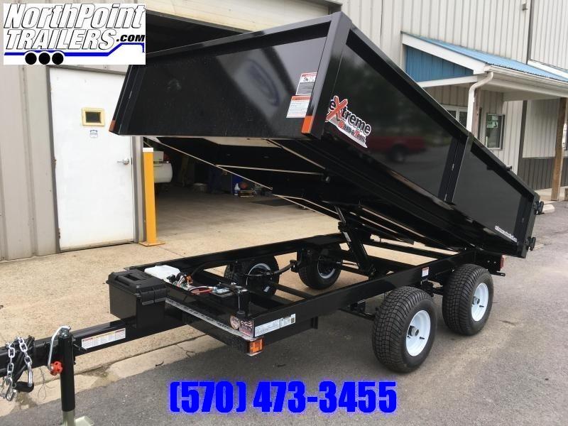 "2020 XRT-418 - 66"" x 108"" Dump Trailer - Barn Doors w/ Slide Out Ramps - GRAY"