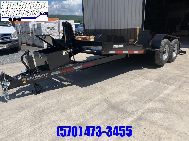 2021 Belmont 16' Power Tilt w/ Wedge Ramps - 14000 GVWR Tilt Equipment Trailer