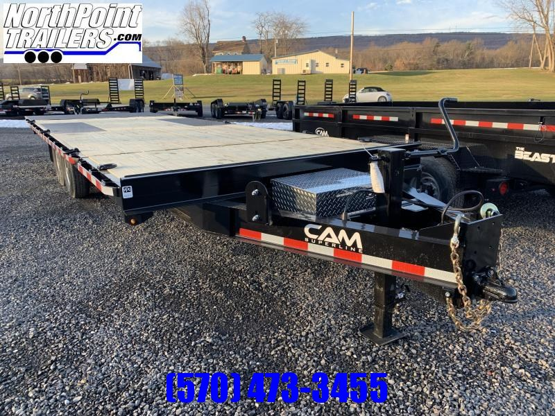 2021 Cam Superline 24' - Deckover Split Tilt Trailer - Power Tilt - 7K Axles
