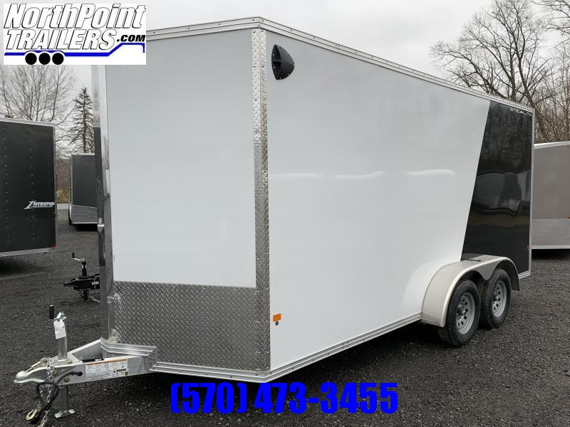2020 CargoPro Stealth C7x16S-IF Cargo Trailer - White-Black Two-tone