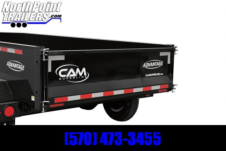 2021 CAM 5x10 Dump Trailer - 7k GVWR - w/ Tarp Kit Dump Trailer