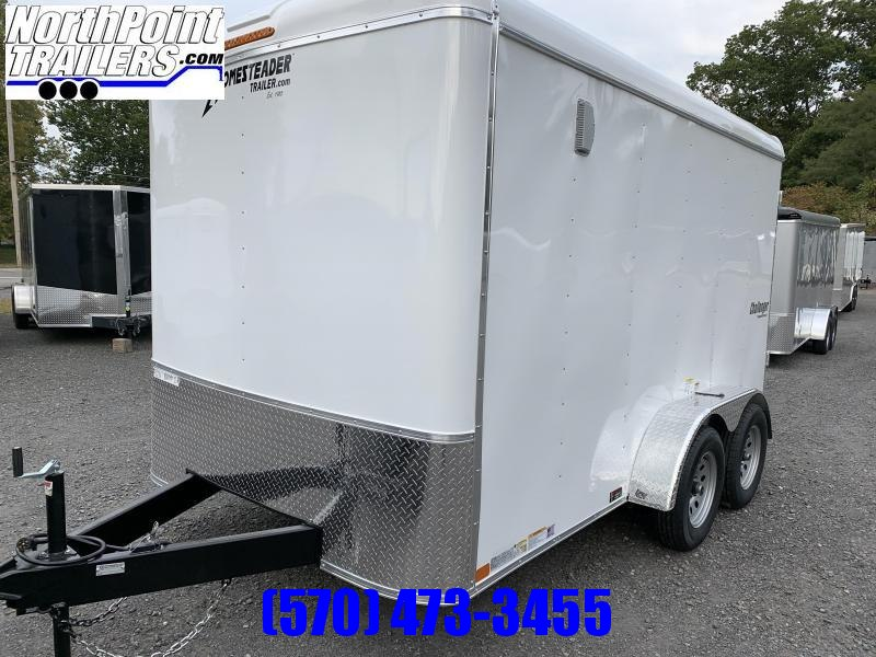 2021 Homesteader 7x12 Challenger Enclosed Trailer - White - Swing Door