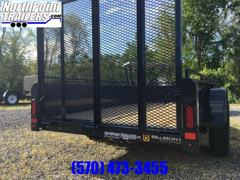 2022 Belmont UT510SS Solid Side Utility Trailer **Charcoal**