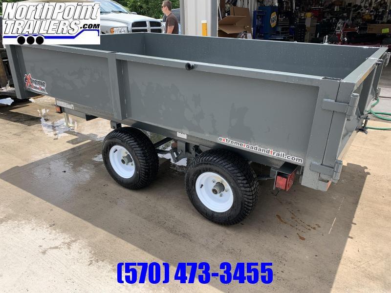 "2021 XRT-418 - 66"" x 108"" Dump Trailer - Barn Doors w/ Slide Out Ramps - GRAY"