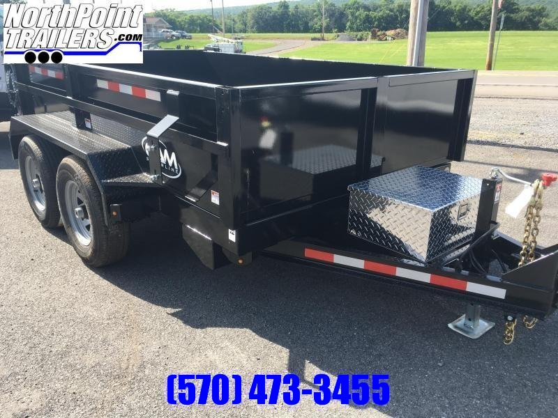2021 CAM 6X10 DUMP TRAILER - BLACK - With Ramps