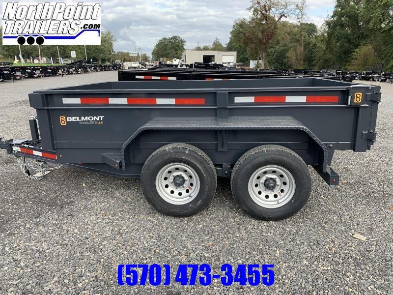 2022 Belmont 6x10 Dump Trailer - 10K w/ Ramps Dump Trailer - 5AMP Charger - Charcoal