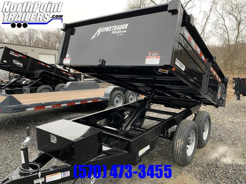 2021 Homesteader 6x10 Deckover Dump - Barn Doors_Curbside Drop - 7k GVWR