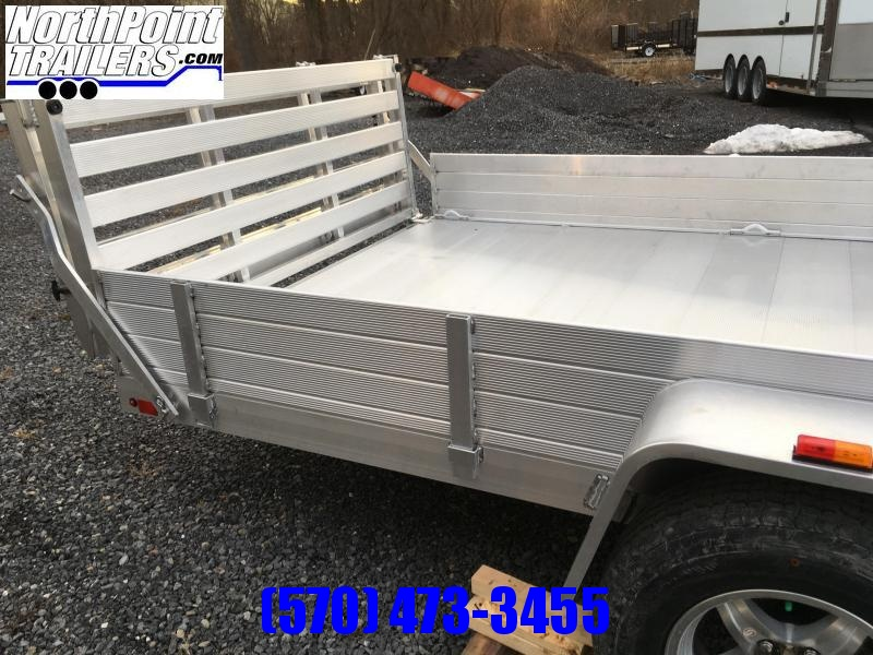 2022 Aluma 8114SR ATV - Utility Trailer - Side load ramps w/ Bi-Fold Tailgate