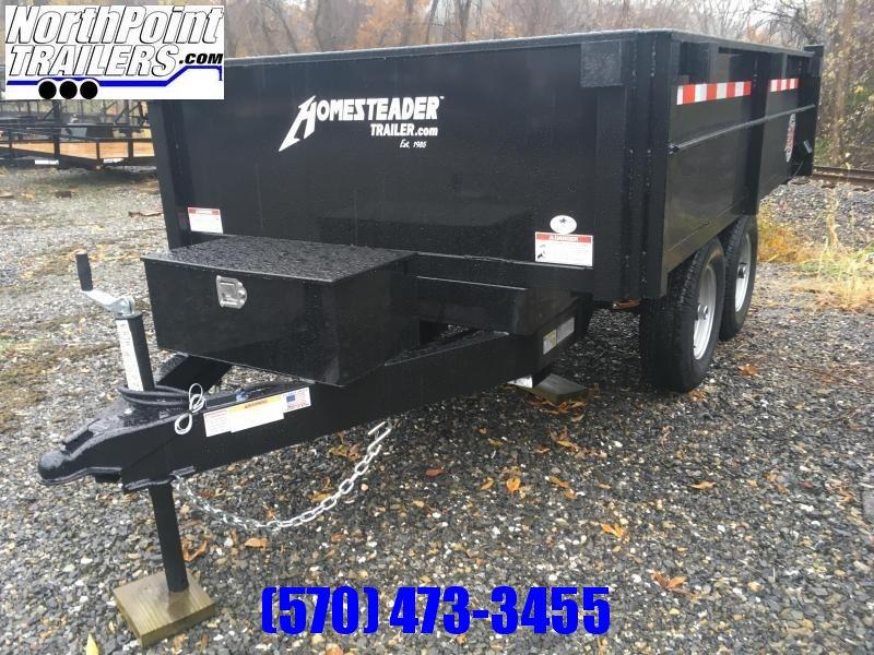 2021 Homesteader 6x10 Deckover Dump - 10K GVWR - CURBSIDE DROP SIDE - BARN DOORS