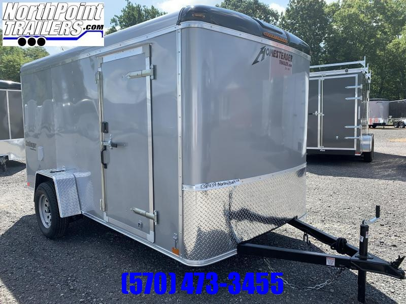 2021 Homesteader 612CS - 6x12 Cargo Trailer - SILVER- Ramp Door