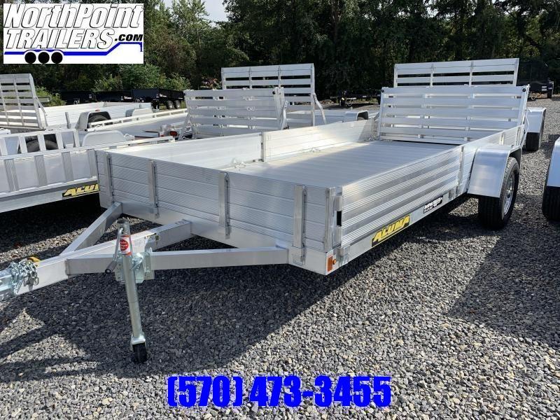 2021 Aluma 8114SR ATV - Utility Trailer - Side load ramps w/ Bi-Fold Tailgate