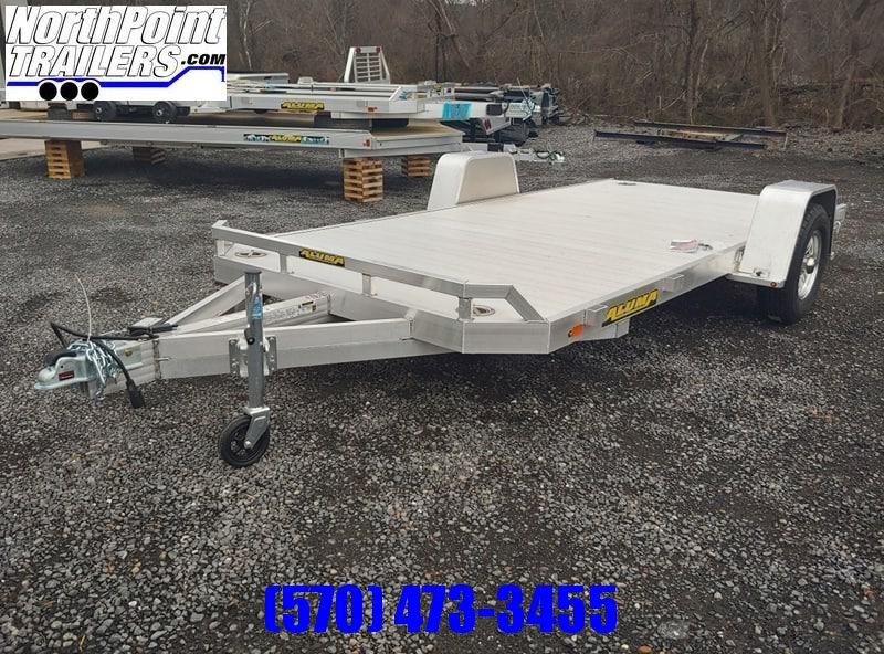 2020 Aluma 8214HS Utility Trailer - 5.2K Brake Axle - Pull out ramps