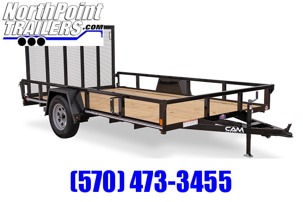 2021 CAM 6x10 Tube Top Utility Trailer 3K Idler