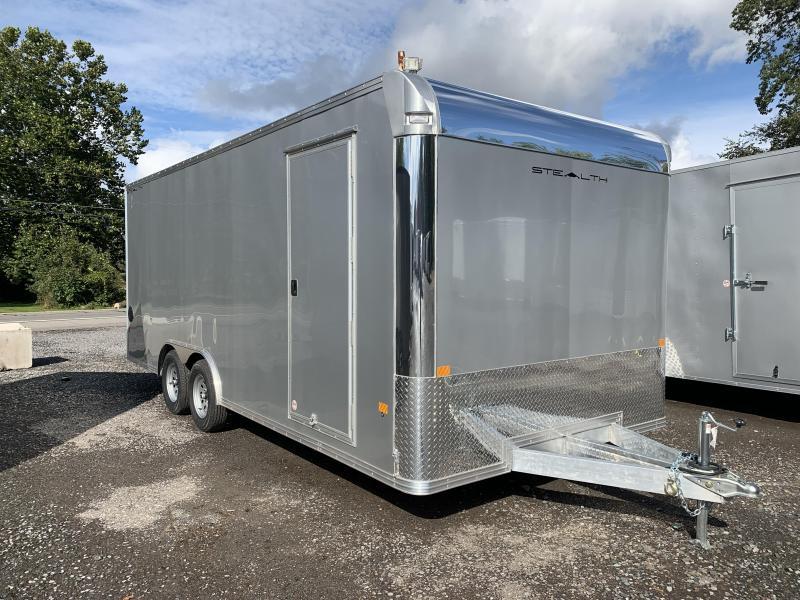 2022 CargoPro 8x20SCH Enclosed Car Trailer - Silver