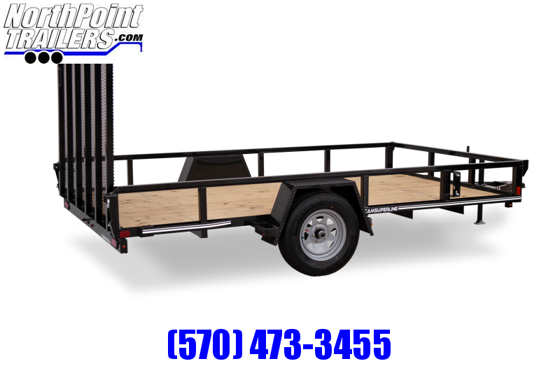 2021 Cam Superline 6x12 Tube Top Utility Trailer