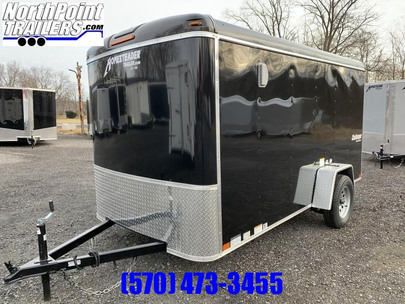 2021 Homesteader 612CS - 6x12 Cargo Trailer - Black - Ramp Door