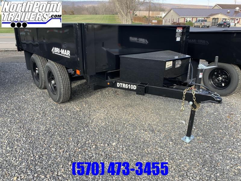 "2021 Bri-Mar 6x10 Deckover Dump ""DTR610D-10"" - Black Mod Wheels - 10K GVWR"