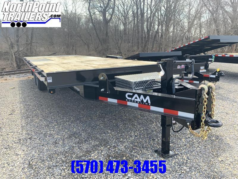 2021 Cam Superline 24' - Deckover Split Tilt Equipment Trailer - 8K Oil Bath Axles - 18400# GVWR