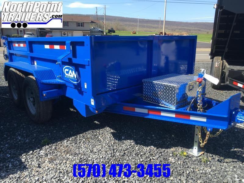 2021 CAM Superline 6X10 DUMP TRAILER - With Ramps - BLUE