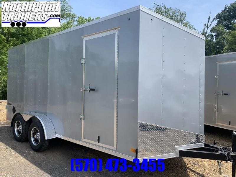 2022 IMPACT 7x16 Tremor Cargo -Silver- RAMP DOOR - 7' Interior