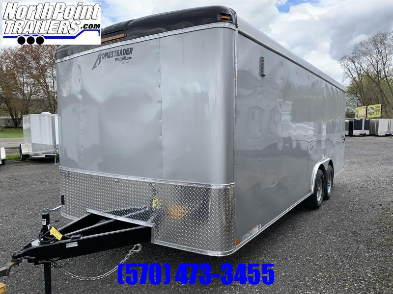 2020 Homesteader Inc. 8.5x20 Challenger Enclosed Trailer w. Ramp Door - Silver - 10K GVWR