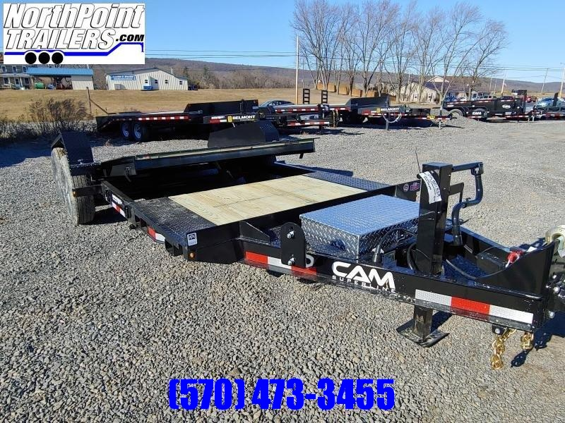 "2021 Cam Superline 7CAM16+5STTXW Split Deck Tilt Trailer - 83"" Width - Removable Fenders"