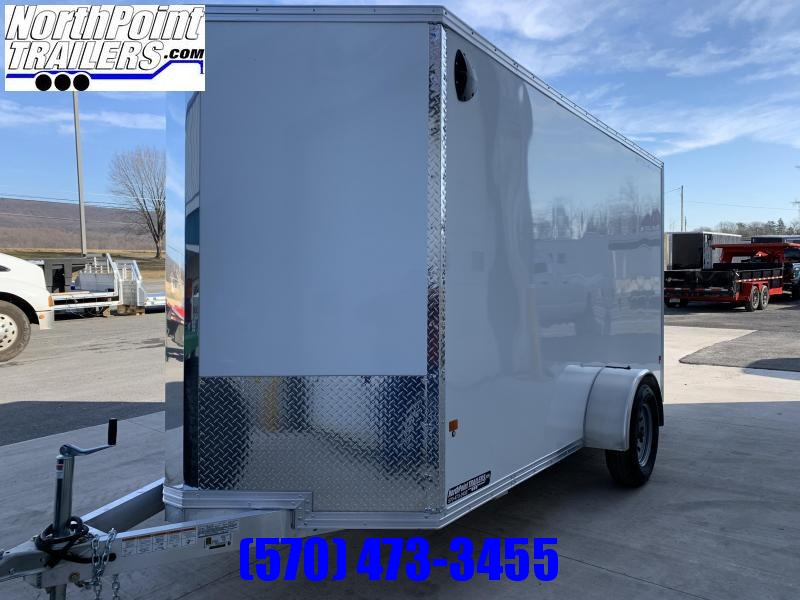 2020 CargoPro Stealth C6X12 Aluminum Cargo Trailer - White - Extra Height