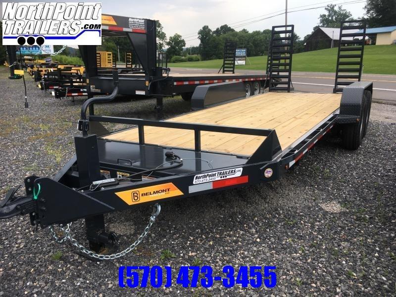 2021 Belmont Trailers - 18' Skidsteer Trailer - 14000 GVWR - SS1018-14K - Black