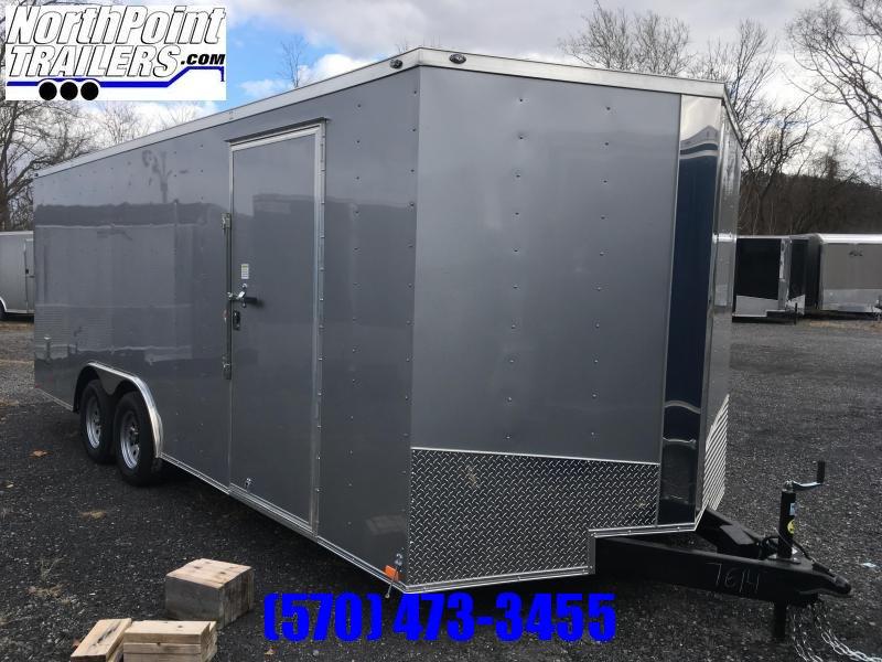 """2019 Spartan Cargo SP8.5x20 Enclosed Trailer - 84"""" Interior - Silver Frost"""