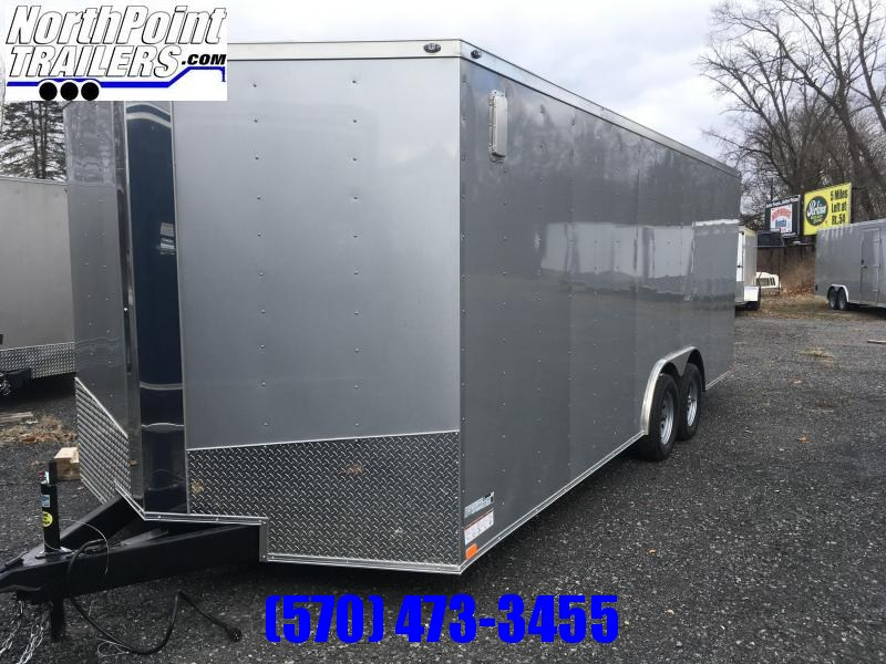 "2021 Spartan Cargo SP8.5x20 Enclosed Trailer - 84"" Interior - Pewter"