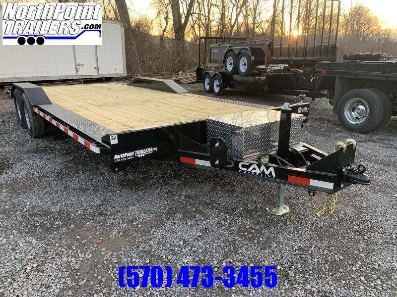 2021 Cam Superline CAM Superline 7x18+2 Drive Over Fender -10K Equipment Trailer