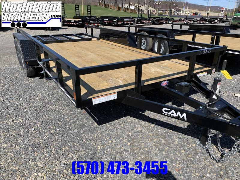 2021 Cam Superline 7x16 Tube Top Utility Trailer
