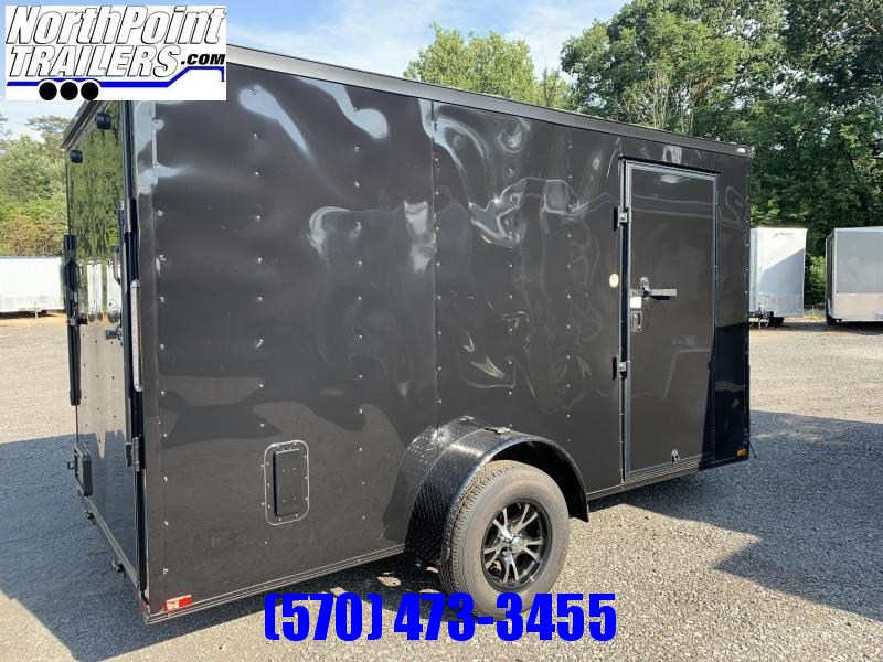 2021 Spartan SP6x12SA Cargo Trailer - Black - Blackout Pkg. - Mag Wheels - Slope V-Nose