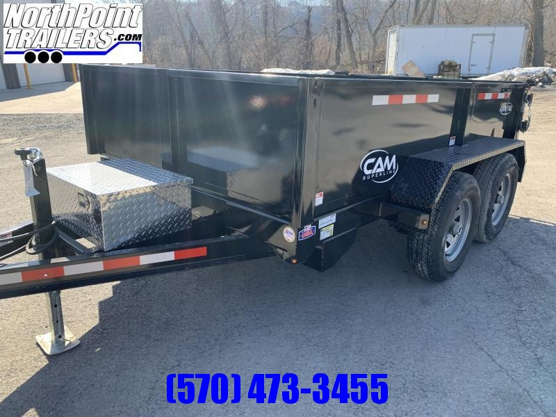 2021 CAM Advantage 6x10 Dump Trailer - 10K GVWR W/ RAMPS