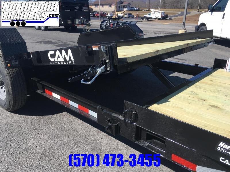 CAM SUPERLINE 19' Split Deck Tilt Trailer - 15' Stationary - 4' Tilt - 14000# GVWR