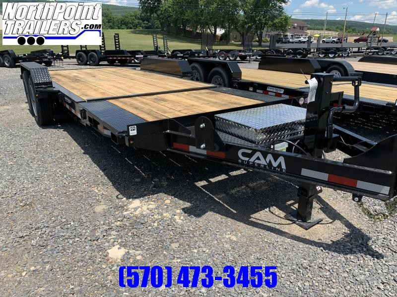 "2020 Cam Superline 8CAM16+5STTXW Split Deck Tilt Trailer - 83"" Width - Removable Fenders - 8K OIL BATH AXLES"
