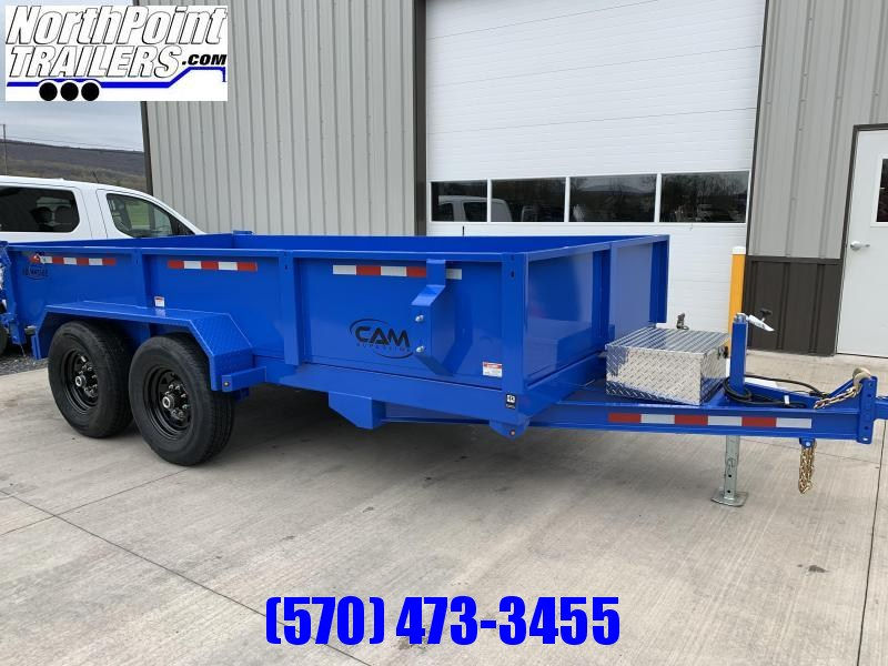 2021 CAM Advantage 7x14 - 14K Heavy Duty Dump Trailer - Blue