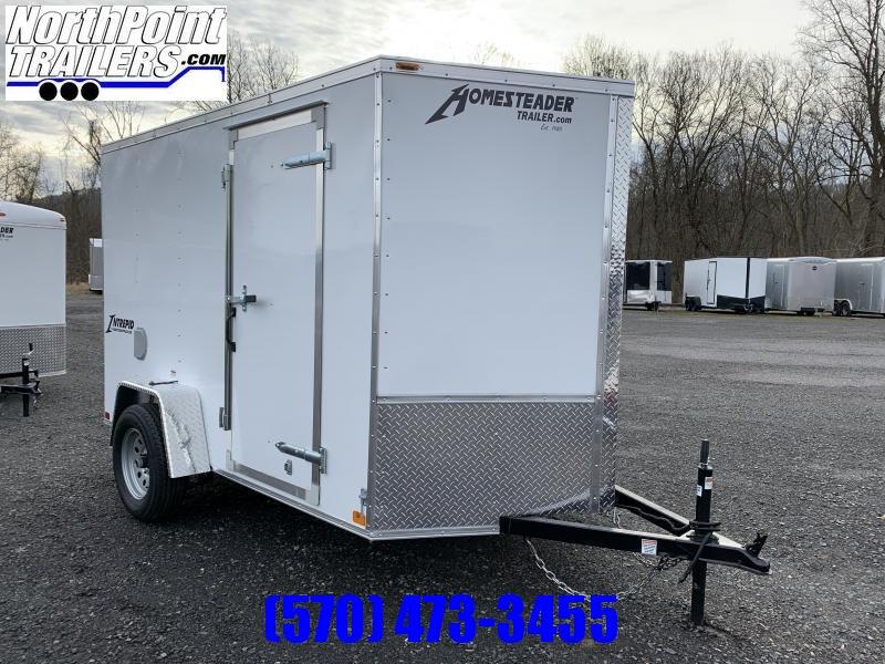 2021 Homesteader 612IS Enclosed Cargo Trailer - Ramp Door - White
