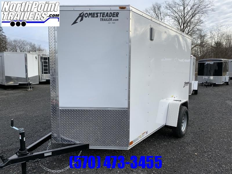 2021 Homesteader 612IS Enclosed Cargo Trailer - Ramp Door - White