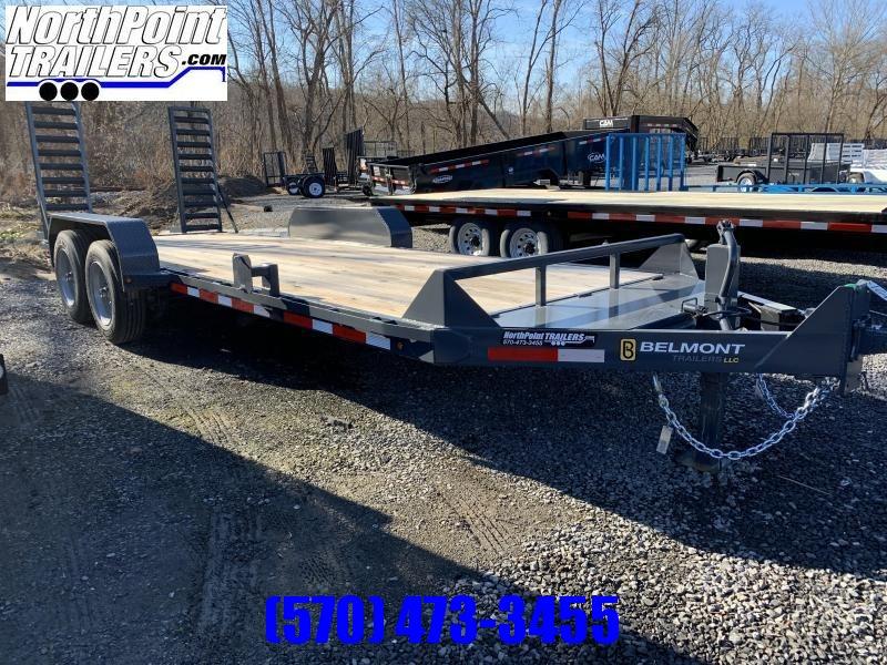 2020 Belmont Trailers - 20' Skidsteer Trailer - 16000 GVWR - SS1020-16K - Charcoal