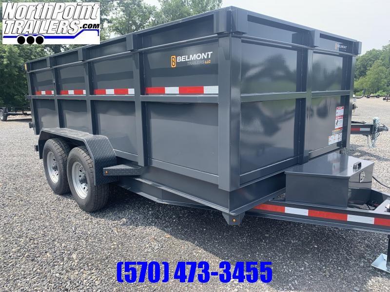 """2021 Belmont DTL 81"""" x 14' Dump Trailer - 44"""" High Side -14K GVWR - Hydraulic Jack"""