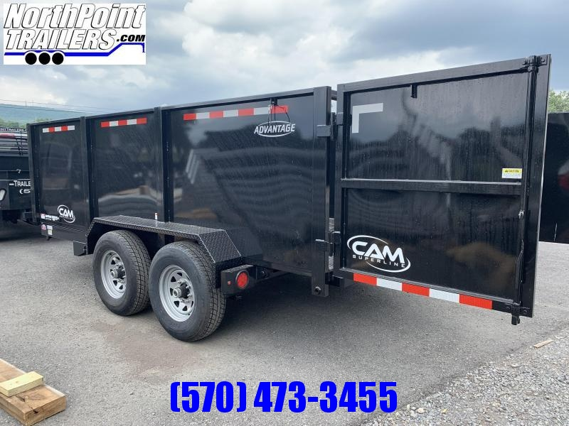 "2021 CAM Advantage 7x14 w/ 44"" High Sides- 14K Heavy Duty Dump Trailer"