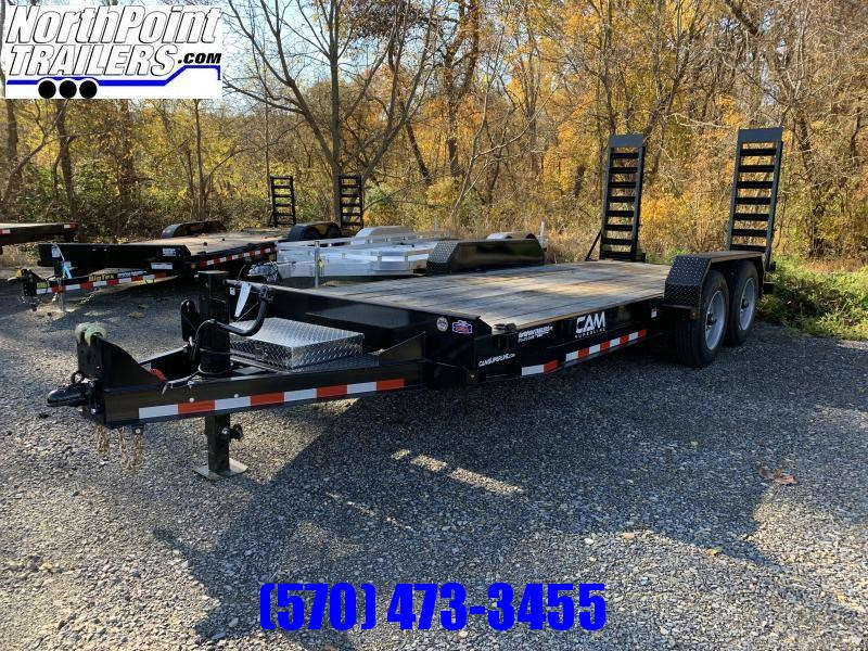 2021 Cam 22' Equipment Trailer - 18400 GVWR - 8K Oil Bath Axles