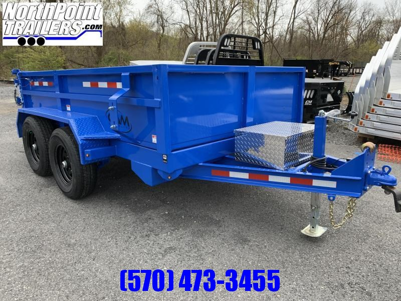 2021 CAM 6X10 DUMP TRAILER - BLUE - With Ramps - ON ORDER