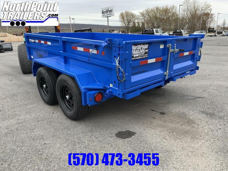 2021 CAM 6X10 DUMP TRAILER - BLUE - With Ramps