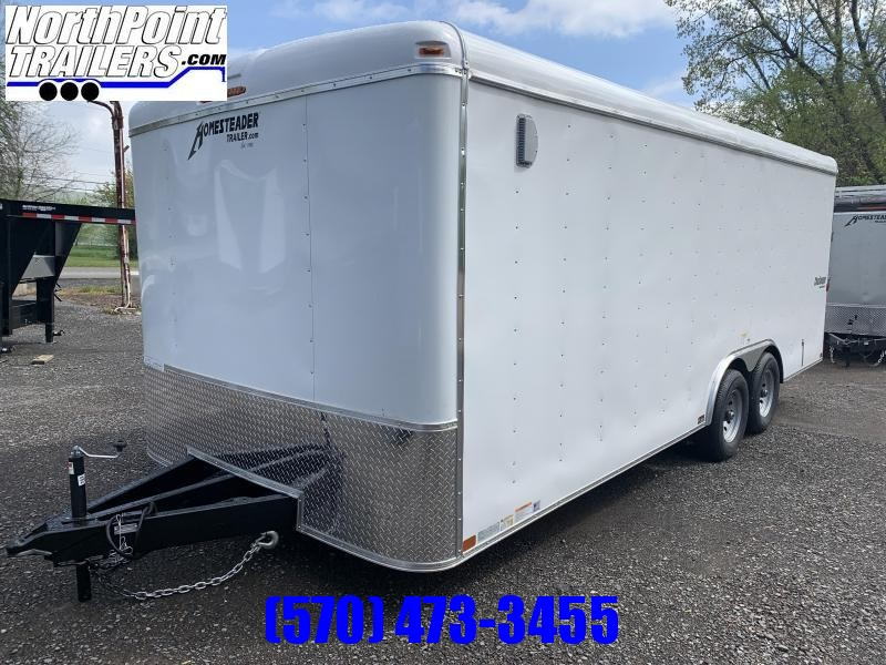 2021 Homesteader 8.5x20 Challenger Trailer_DBL Doors - WHITE - 5.2k Axles