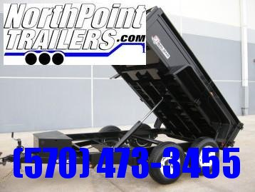2020 Bri-Mar 6x10 Low Profile Dump Trailer - 10K GVWR - w/ Ramps