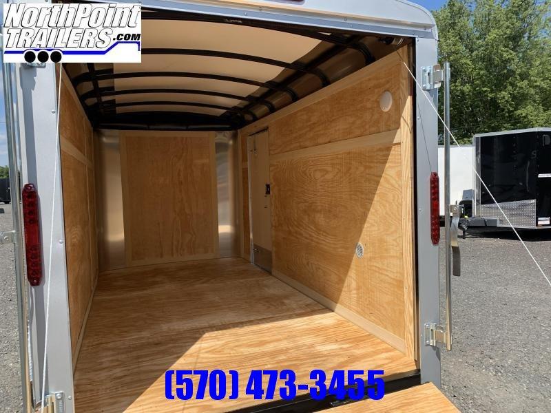 2021 Homesteader 612CS - 6x12 Cargo Trailer - SILVER- Ramp Door