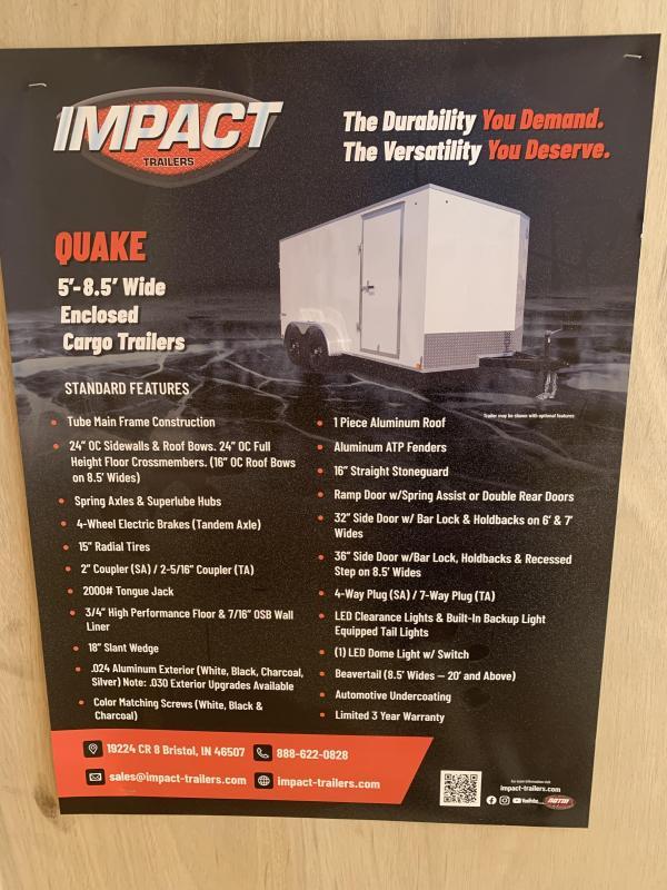 2022 Impact Trailers 2022 IMPACT 7x16 - 7' Interior - Silver - RAMP Enclosed Cargo Trailer