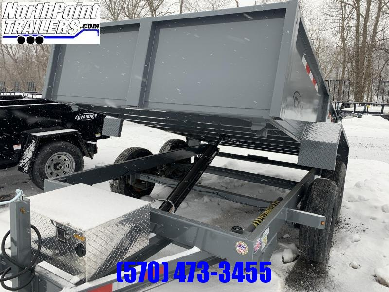 2021 CAM Advantage 6x10 Dump Trailer - 10K GVWR - GRAY
